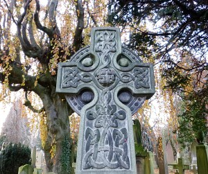McGlashen cross, Celtic Art, Dean Cemetery, Edinburgh