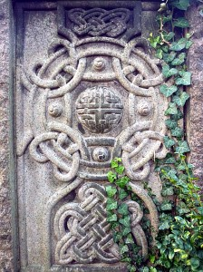 McGlashen carving, Celtic art, Dean Cemetery, Edinburgh