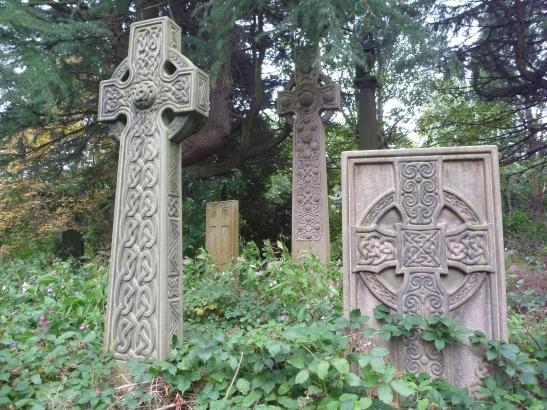 McGlashen crosses, Celtic Art, Warriston Cemetery, Edinburgh