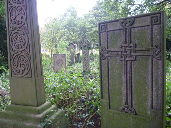 McGlashen crosses, Celtic Art, Warriston Cemetery, Edinburgh