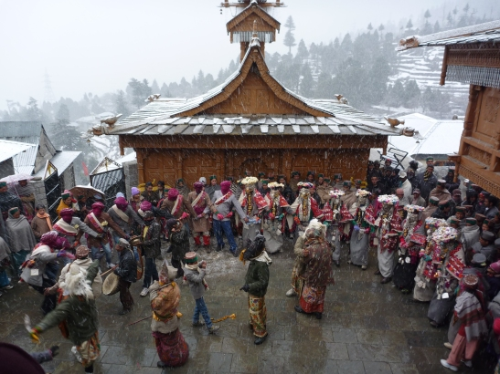 Dance in the Snows, Kinnaur, Kalpa